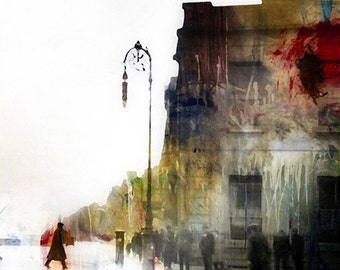 Parisian Graffiti, Photograph, Photomontage, Collage, Illustration, Cityscape, Landscape, Home Decor, Paris