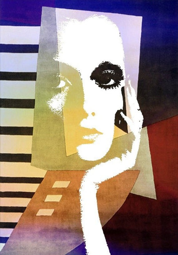 Fine Art Print, Giclee Archival Print, Photomontage, Collage, Painted Photographs, Homage to Picasso    fine art giclee print