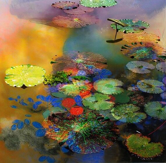 Monet's Pond 12x12 Giclee fine art  print  on Etsy