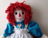 26 IN RAGGEDY ANN Cloth Doll From Daisy Kingdom Pattern