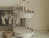 vintage cottage birdcage