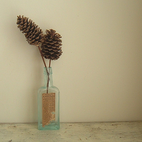 vintage foley aqua apothecary bottle