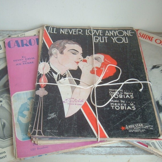 vintage sheet music collection