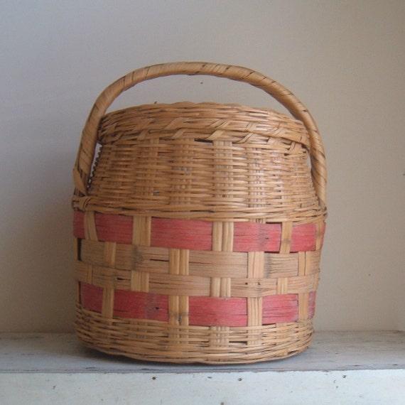 vintage woven storage basket