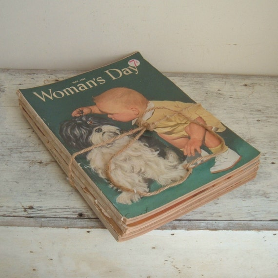 four Woman's Day magazines 1950s