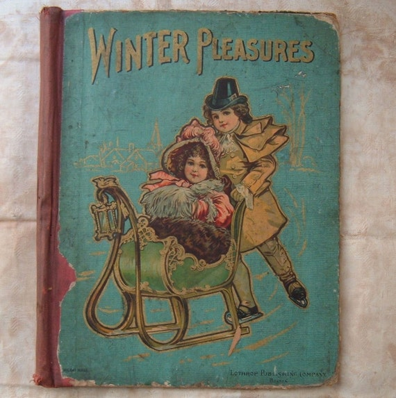 Vintage Children S Book Cover : Antique children s book cover for reuse winter
