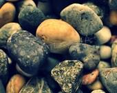 Sea Stones - Color Fine Art Photograph Print - 12x12 in