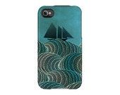 iPhone Case TheOpenSea waves ocean boat Uncommon Slider Case teal aqua blue green iPhone 5 4/4s 3GS iPod