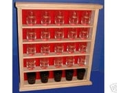 25 Shot Glass Display Case  Rack  New Item  107