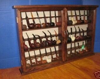 Pipe rack cabinet 42 Pipe Rack Display Cabinet,Churchwarden felt Item 191