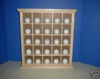 Sale 25  Golf Ball Display In stock ready to ship Case New Golden Oak Item 149