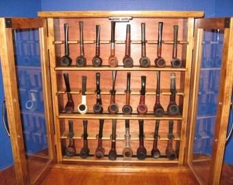 Pipe  cabinet rack Smoking Tobacco Pipe Cabinet Rack Stand 24 Custom Pipe Rack Display Smoking Item  190C2