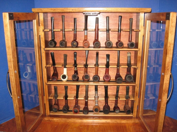Pipe cabinet rack Smoking Tobacco Pipe Cabinet Rack Stand 24