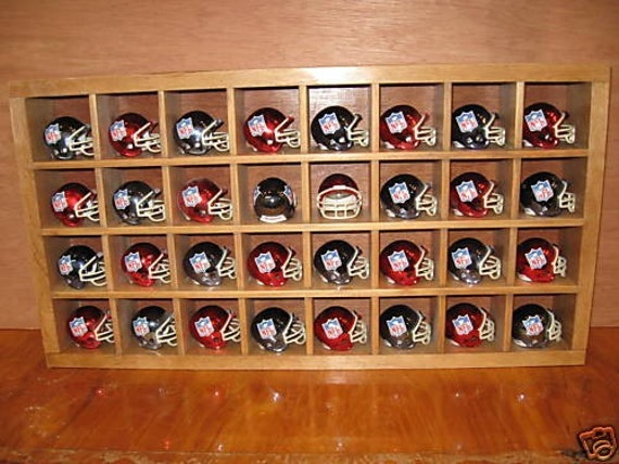shadow box cubby Football Helmet Display Rack fits Riddell size Item 151