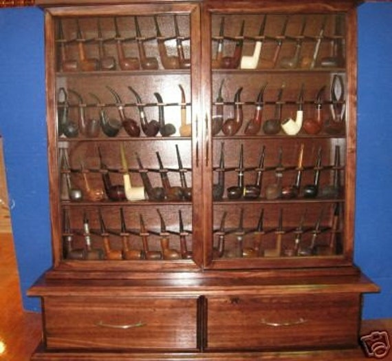 Tobacco Pipe Cabinet Pipe Rack Cabinet 56 Pipe Rack