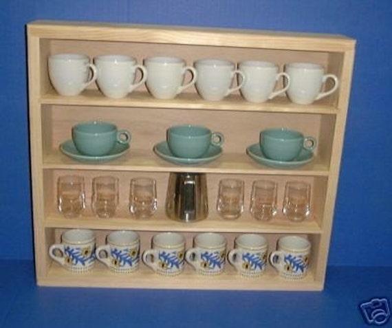 Espresso Cup Display case rack curio cabinet Item 135