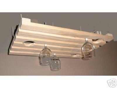 hanging wine glass rack wood new stemware large item 101. Black Bedroom Furniture Sets. Home Design Ideas