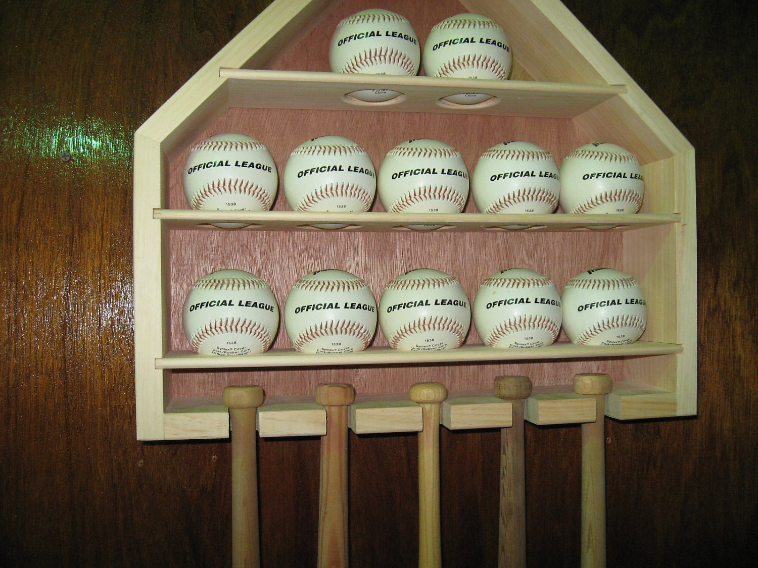 Baseball Mini Bat Display Cabinet Rack Item 166