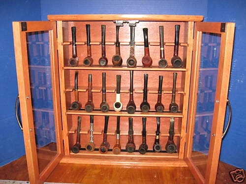 Pipe rack cabinet Smoking Tobacco Pipe Cabinet Rack Stand 24 ...