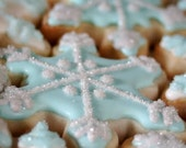 Snowflakes Gift Box - One Dozen- Decorated Sugar Cookie Favors