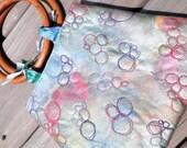 Hand Painted Metallic Hand Bag - Pebbles - Art You Can Use