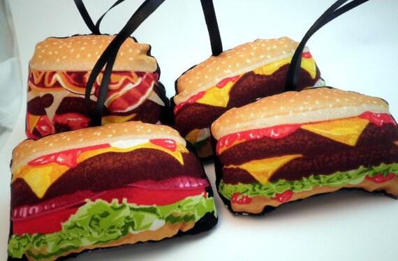 Hamburger Ornaments for your Christmas Tree