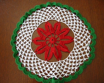 Crochet Doily Christmas Flower