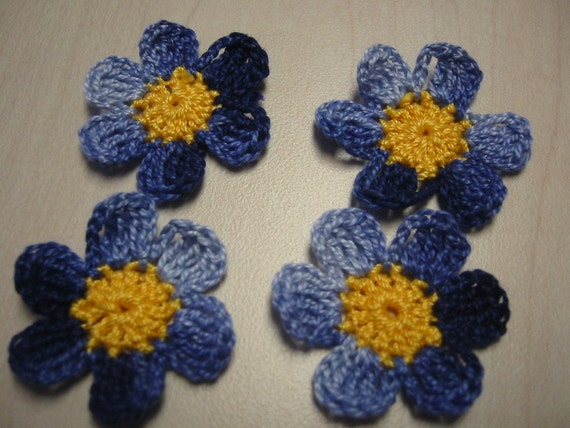 Forget Me Not Crochet Flowers
