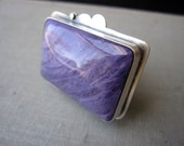 SALE - Boysenberry Ring - Sterling Silver and Charoite