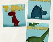 Dino Kids Print Set of 3 ver.2 (8x10)