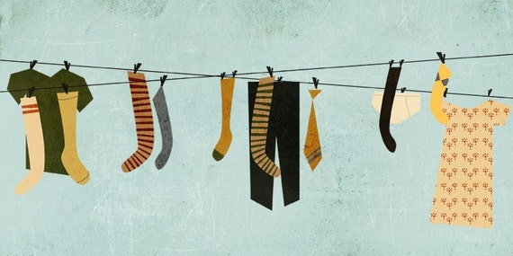 Hung Out To Dry - Print