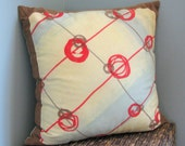 FRAMED hand dyed silk pillow