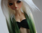 MSD extension wig in TIPPED MOSS GREEN