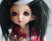 doll wig BJD wig Dollfie wig LATI yellow/Pukifee/monster high Black with white streaks fake fur wig monstrodesigns