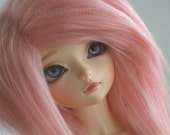 doll wig BJD wig Dollfie wig  MSD sized BUBBLEgum pink fake fur wig monstrodesign