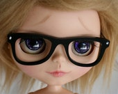 BJD / Dollfie  BLYTHE sized black way farer GLASSES monstrodesign
