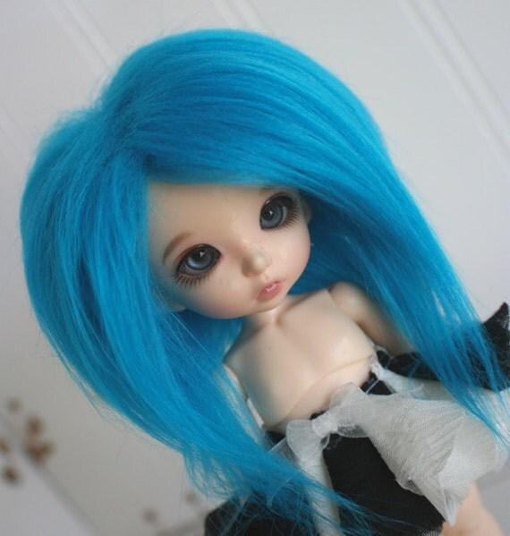 doll wig BJD wig Dollfie wig Lati Yellow/PUKIFEE/monster high sized fake fur TEAL wig monstrodesigns