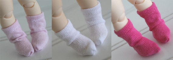 BJD / Dollfie LATI YELLOW/Pukifee sized Pink and White sock set