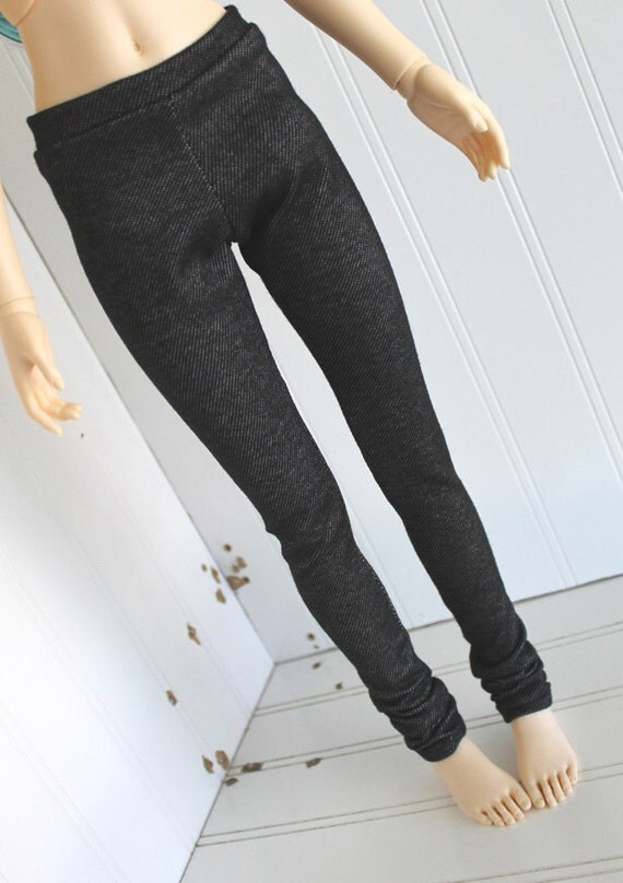 Doll clothes BJD clothes Dolfie clothes SD clothes black JEGGINGS Monstro Designs