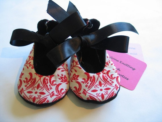 Limited Edition French Newborn Booties