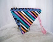 Totally 80's Triangle Striped Multi Color Change Pouch Wristlet Treasury Featured