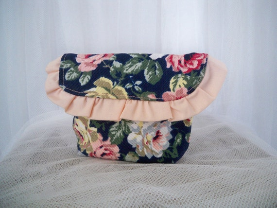 Navy Rose Small Clutch Camera Case