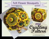 HOW TO Hand Embroidered Felt Flower Bridal Bouquet Tutorial