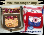 INSTANT DOWNLOAD Mini Messenger Bag Sewing Pattern in PDF Form
