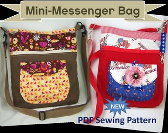 NEW Mini Messenger Bag Sewing Pattern in PDF Form