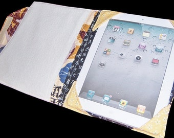 2015 Padded, Structured, iPad Book Case Sewing Pattern in 5 Sizes for Many Tablets