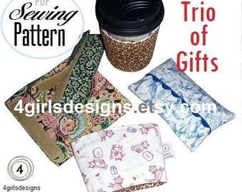 PDF Sewing Pattern Instant Download: Trio of Handmade Gifts Number 1 in My Crash Your Stash Series