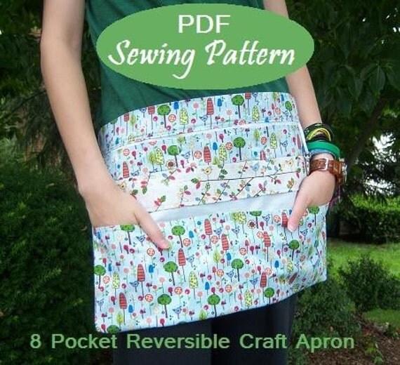 Instant Download: NEW 8 Pocket Reversible Vendor Apron eBook Pattern Tutorial-Great for Craft Shows, Markets, Yard Sale