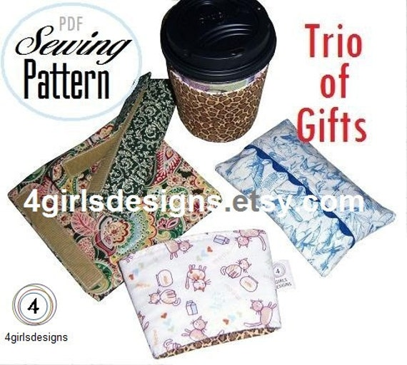 PDF Sewing Pattern Trio of Handmade Gifts Number 1 in My Crash Your Stash Series