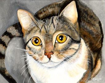 Tabby Cat Print from Original Painting